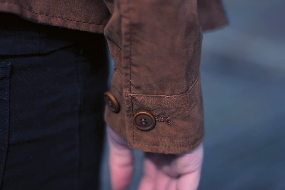 Zara Mens Faux Suede Jacket details