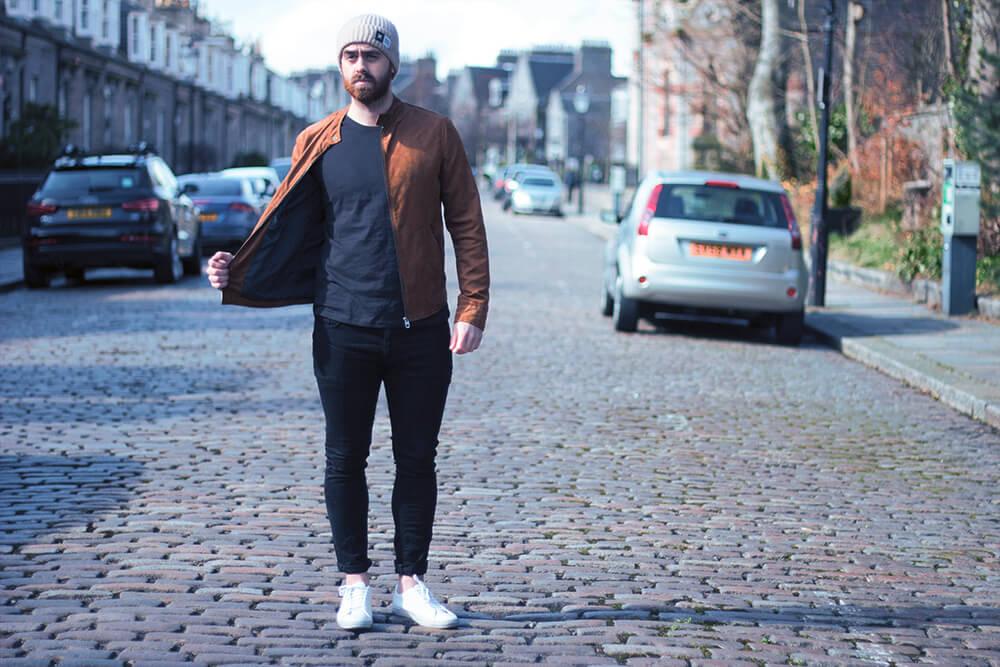Mens Faux Suede Jacket from Zara