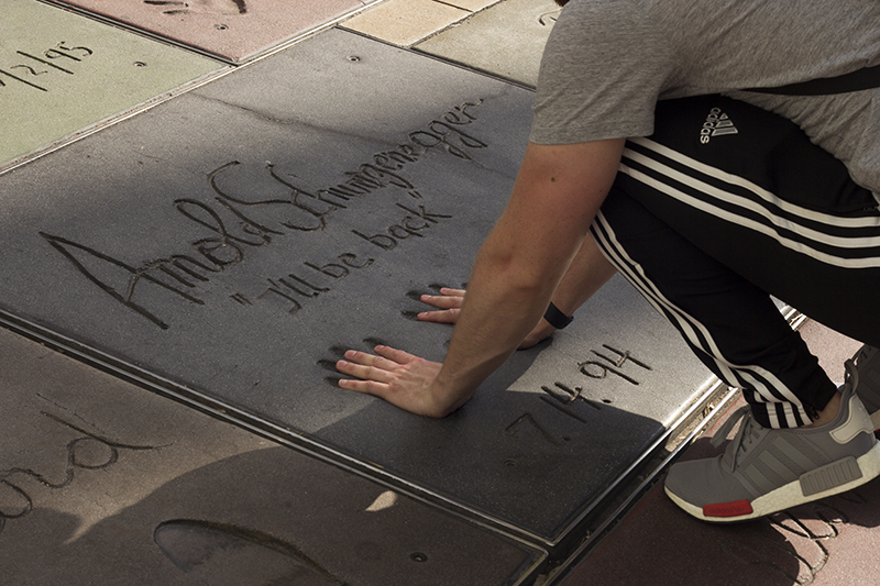 Arnold Schwarzenegger Hand Prints