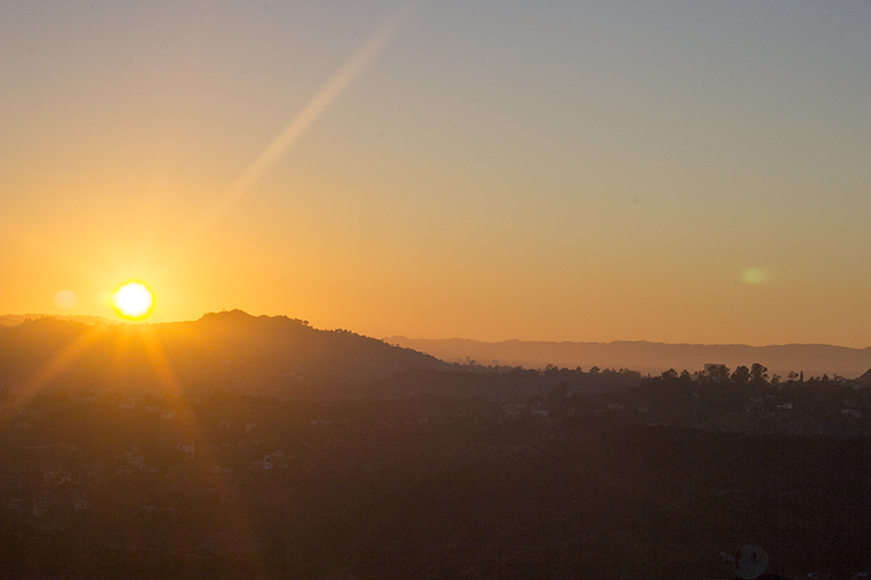 Sunset from Griffiths Observatory