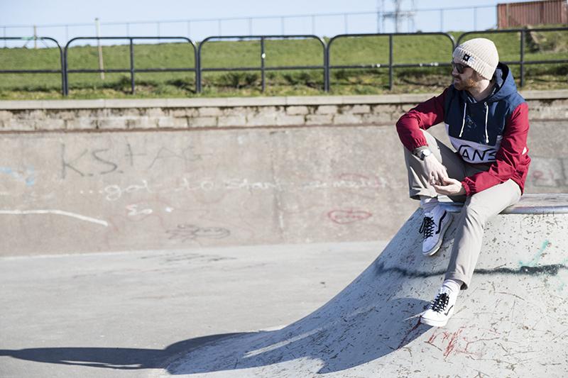 Skatepark Photoshoot for Men's fashion Spring/Summer 2017