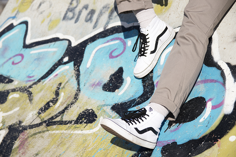 Vans Hi-top Black and White Trainers